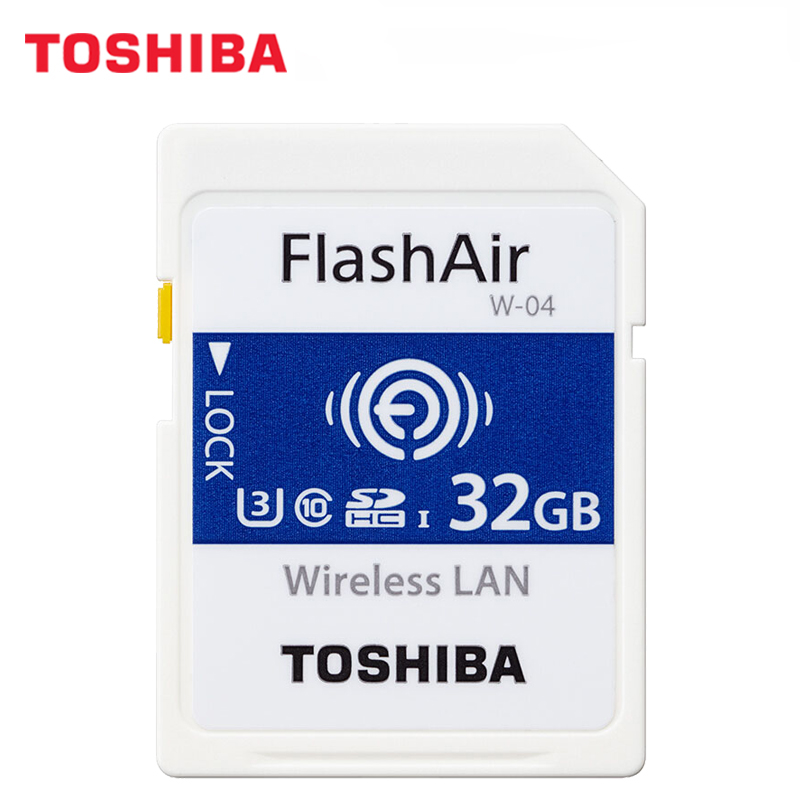 Image 2 - TOSHIBA FlashAir W 04 WiFi carte SD 64GB SDXC 32GB 16GB SDHC classe 10 U3 carte mémoire carte Flash pour appareil photo numérique-in Cartes Mémoire from Ordinateur et bureautique on AliExpress