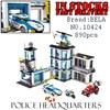 Bela City 10424 890PCS Police Station Model Building Blocks Bricks Enlighten Toys For Children Birthday Gifts