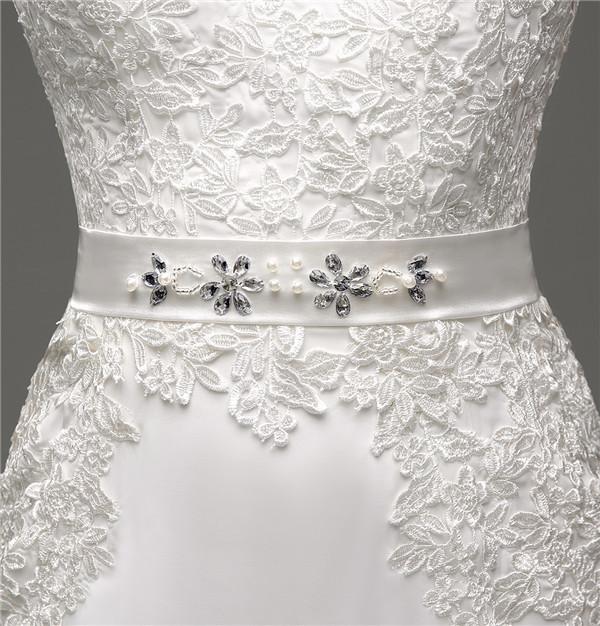 Floor-Length V-Neck Lace Chiffon Full Sleeves Wedding Dress 5