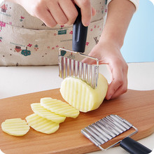 Stainless Steel Potato Wavy Cutter French Fries Potatoes Chips Knife Vegetable Fruit Carrot Slicer Kitchen Tools цена 2017