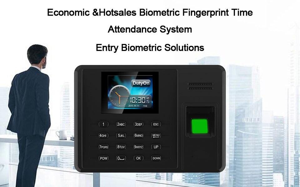 OULET Biometric Attendance System Fingerprint TCPIP USB Time Clock Employee  Reader Machine Electronic Device Attendance System