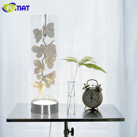 Modern Fashion Creative Lamp Living Room Bedroom Bedside Lamp European Fashion LED Ceramic Glass Petals Table