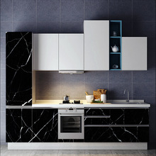 Cabinet sticker Old furniture refurbished PVC waterproof high temperature resistance imitation marble texture