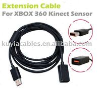 Free Shipping 2pcs Lot High Quality 3m SENSOR Extension Cable Cord For Xbox 360 Slim Kinect