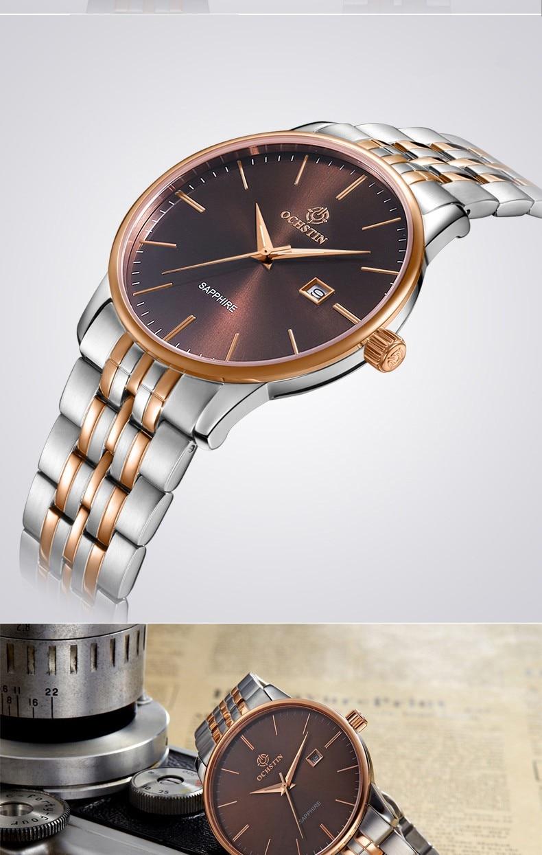 de Luxo Mulheres Relógio Masculino Banda de
