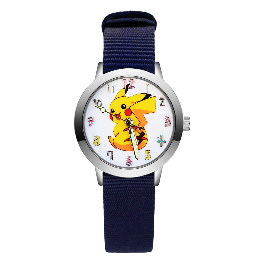 Giá bán Fashion Cartoon Cute Style Childrens Kids Student Girls Boys Quartz Nylon Strap Wrist Watches JA88
