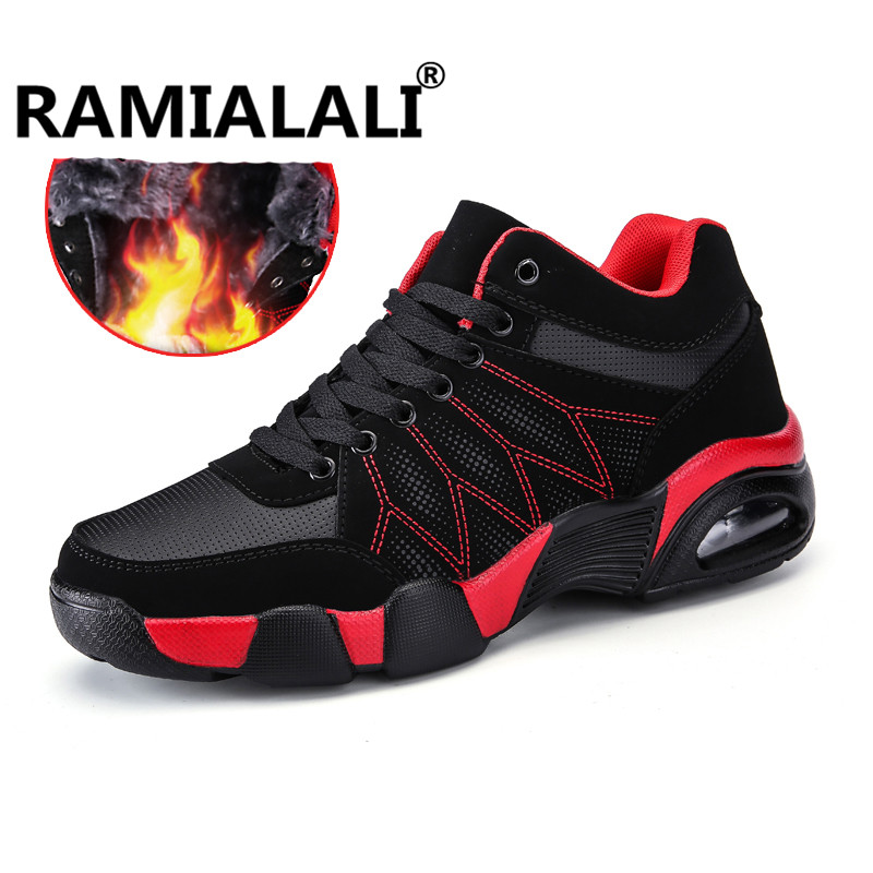 Ramialali New Winter High Top Men Sneakers For Men Running Shoes Platform Sports Sneakers Warm Shoes Trainers Sneakers For Male