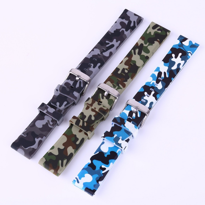 20/22/24mm Classic Silicone rubber Camouflage watch band strap watch band