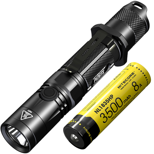 NITECORE P12GTS 1800 Lumen LED Tactical Flashlight See Video for sale online