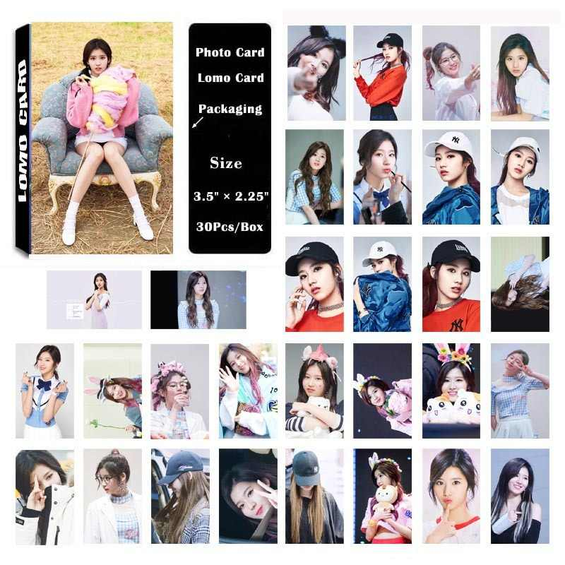 KPOP Lomo Card TWICE Album Minatozaki Sana Self Made Paper Photo Card  Poster HD Photocard Fans Gift Collection