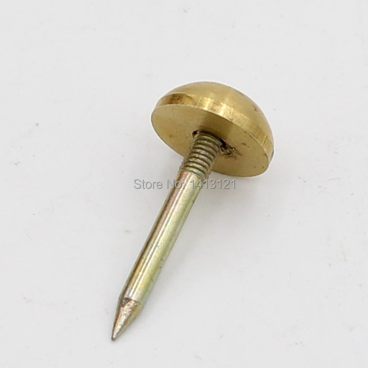 20 pics Chinese style antique solid brass nail drum rivets sofa fastener decorative nail door fixed nail hardware part