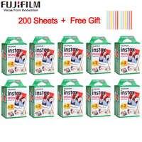 20-200 arkusze Fujifilm instax mini 9 film biała krawędź 3 Cal szerokości filmu do aparatu fotograficznego mini 8 7s 25 50s 90 papier fotograficzny