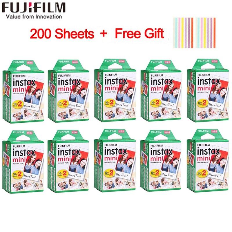 20-200 feuilles Fujifilm instax mini 9 film blanc bord 3 pouces de large film pour appareil Photo instantané mini 8 7s 25 50s 90 papier Photo