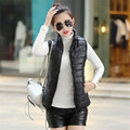 Women Jacket Winter\Autumn Hooded Down Cotton Parka Vest Sleeveless Jacket Korean Coats Pocket Outerwear Warm Vest Female