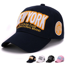 HATLANDER Classic men cap cotton bone new york 3D embroidery baseball cap girls kenka hat for