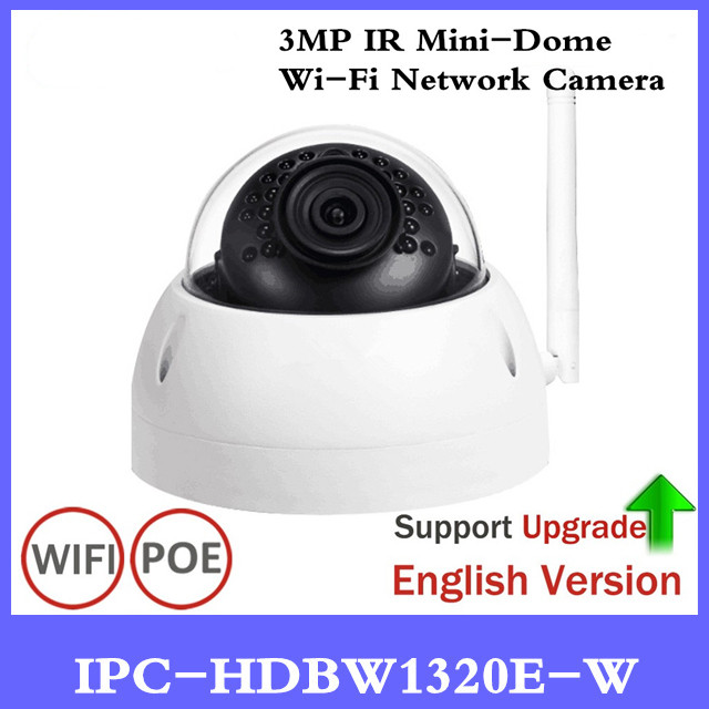 DH Original 3MP IR Mini Dome WiFi Network IP Camera IPC-HDBW1320E-W Wireless Security Camera 3MP IR 30m Waterproof Camera dahua original 8ch 3mp h2 64 dh ipc hdbw1320e 8pcs dome cctv ip network camera poe dahua dhi nvr5208 4ks2 security camera kit