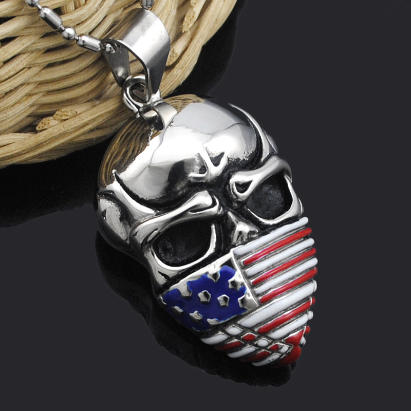 Atgo hot cool flag pendant stainless steel men chain necklace mask atgo hot cool flag pendant stainless steel men chain necklace mask skull trendy usa symbol biker necklace men jewelry kp341 in pendants from jewelry aloadofball Choice Image