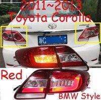 Corolla Taillight 2011 2013 Free Ship LED Corolla Rear Light Optional Red Black Color 4ps Set