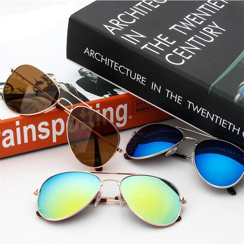 MXDMY  2018  Hot Fashion Boys Girls Baby Child Classic Retro Cute Sun Glasses Children Goggle Girls Alloy Sunglasses