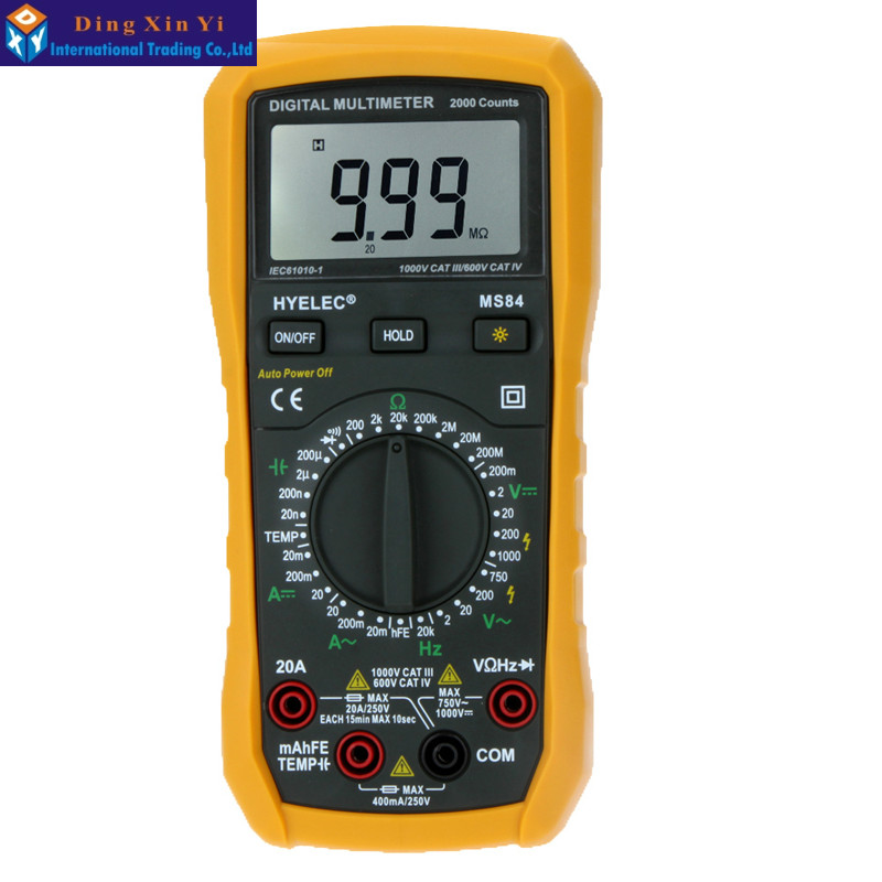 ФОТО Digital Multimeter MS84 PEAKMETER Capacitance AC/DC Voltage Current Resistance Capacitance Frequency and Temperature