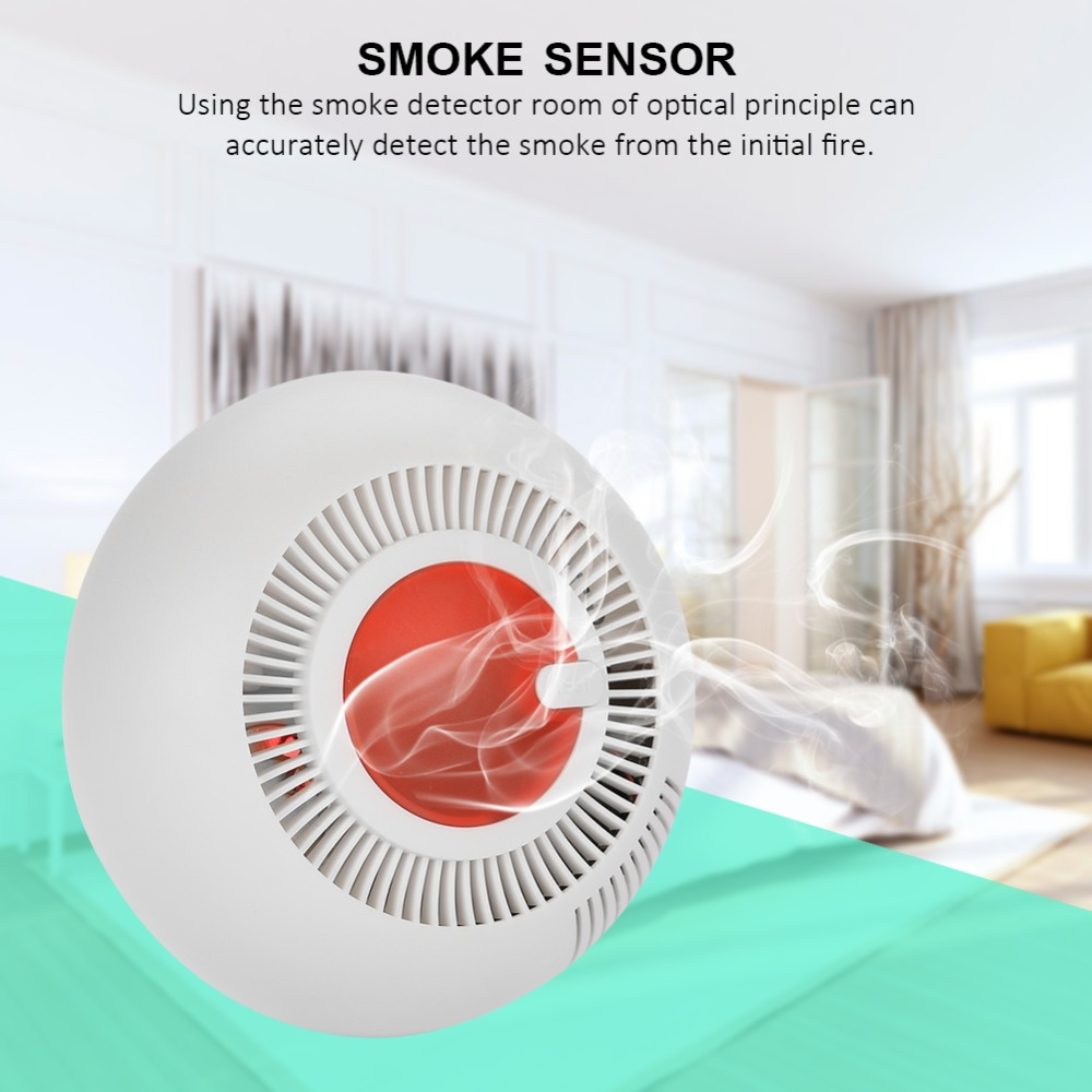 3V Ceiling Fire Alarm Detector Photoelectric Smoke Sensor Home Security Accessory Good Quality