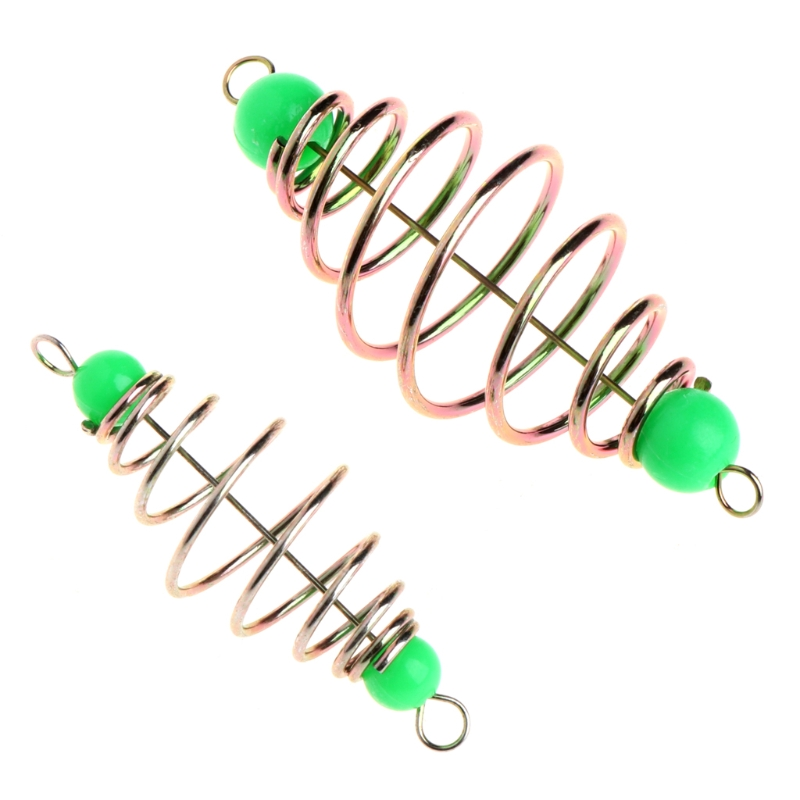 10 Pcs/Set Fishing Bait Spring Lure Inline Hanging Tackle Stainless Steel Feeder10 Pcs/Set Fishing Bait Spring Lure Inline Hanging Tackle Stainless Steel Feeder