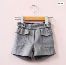 YG31744036 2017 New Spring Fashion Baby Girls Shorts Solid Ruffles Winter Boots Pants  Girl Pants Children Clothes Girls Clothes
