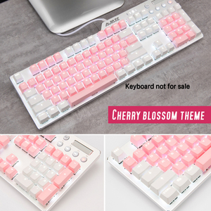 Image 1 - Cherry Vlossom Theme Top Printed 104 Key  Keycaps Keys Caps Set for Mechanical Keyboard for Gaming Mechanical Keyboard