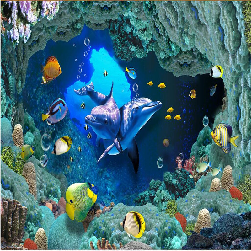 beibehang photo wallpaper 3D stereoscopic wallpaper living room TV background wall covering underwater world 3d mural wallpaper beibehang wallpaper bedroom living room tv background mural wallpaper flocking stereoscopic 3d relief wallpapers roll wall paper