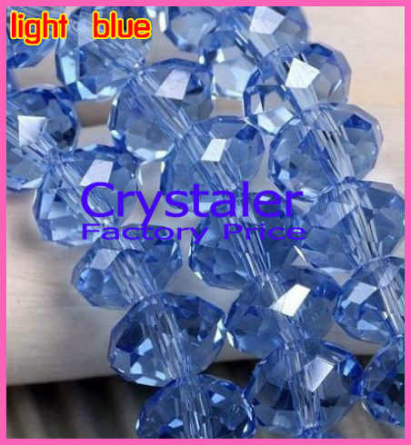 5040 AAA คุณภาพสูง light Sapphire สีแก้ว Rondelle beads.4mm, 6 มม., 8 มม. 10 มม., 12mm จัดส่งฟรี!