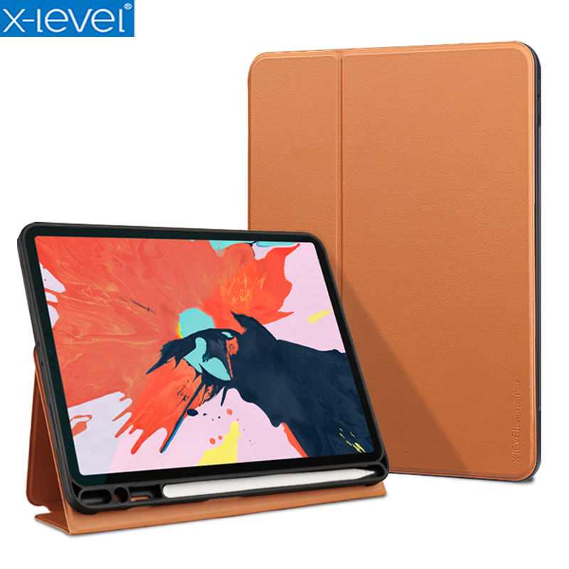 X Level Book Leather Flip Cases For Apple 2018 New iPad Pro 12 9 inch A1983
