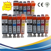15 x PGI 520 520BK PGI520 PGI-520 PGI-520XL CLI521 XL Inkjet Cartridges For Canon Pixma IP 3600 4600 4700 MX 860 870 Ink Printer