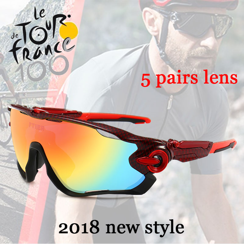2018 Multi lens Cycling Glasses Polarized Riding Bicycle Sunglasses Goggles Driving Eyewear Tour de France sports sunglasses