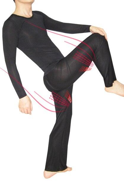 Ropa de noche masculina viscosa ultrafina atractiva casa ropa de noche ocasional conjunto de manga larga ropa de dormir pantalones sueltos 1589, ropa interior de los hombres
