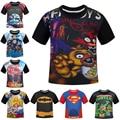 NEW 2016 Boys T-shirts Five Nights At Freddy FNAF Clothes Fireman Sam Children T Shirts Naruto Dragon Ball Costume Kids Top Tees