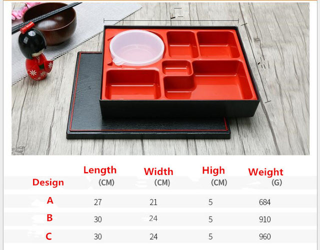 Online Shop 2 Sets Japanese Style ABS Material Bento Box Lunch