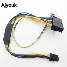 ATX 24 контактный к 2 портовому 6 контактному кабелю питания, разъем для материнской платы, адаптер, шнур для HP 8100 8200 8300 800G1 Elite 30 см 18AWG 1 шт.