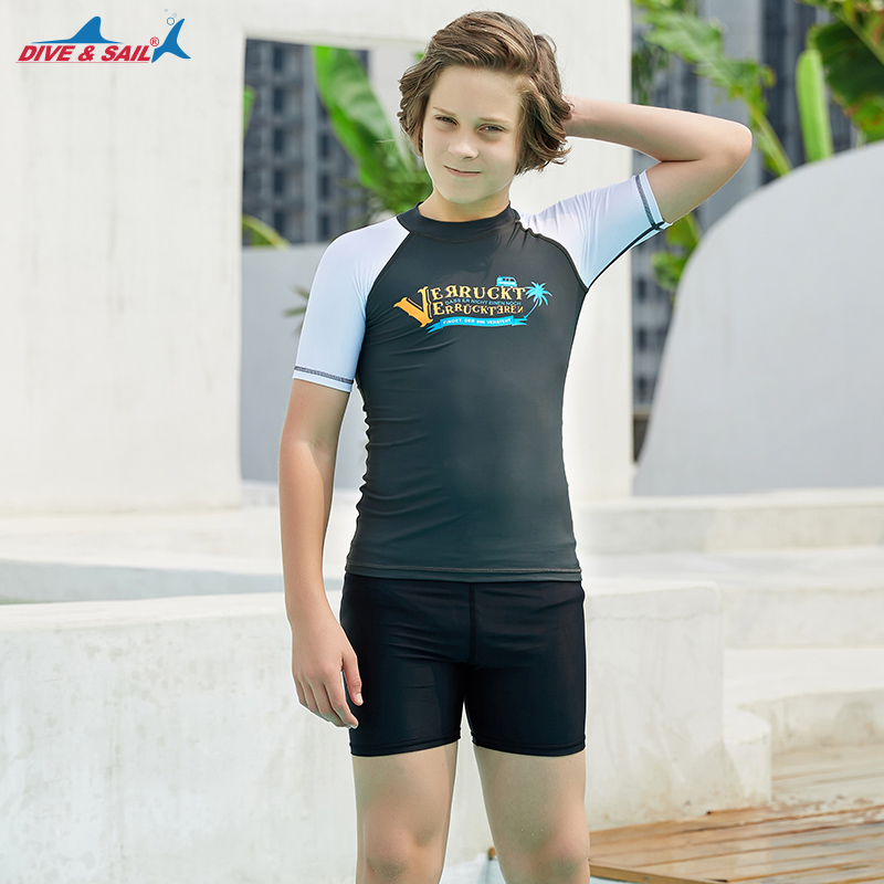 Rash Guard Boys Short Sleeve Long Sleeve Swimwear Rashguard