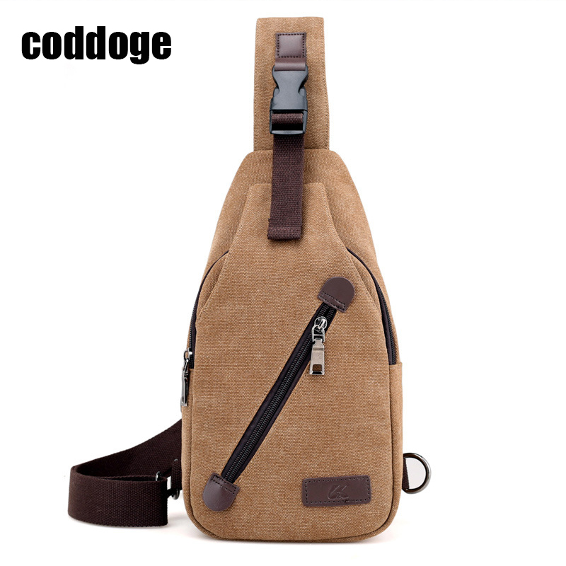 New Arrival Canvas Men Chest Pack Single Shoulder Strap Backbag Crossbody Bags for Women Sling Shoulder Bag Messenger Travel Bag