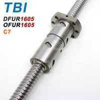 TBI двойной Ballnut мяча винт DFU1605 OFU1605 5 мм привести C7 1605 Ballscrew с пользовательскими Длина 1000 мм 300 мм 600 мм 800 мм