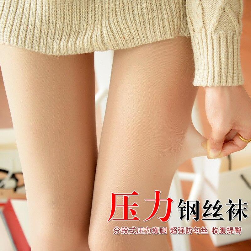 QA521 Summer sexy core spun silk pressure thin leg pantyhose women sexy transparent stockings tights