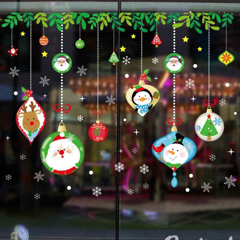 Merry Christmas DIY настенный стикер для магазина дома Окно Дисплей чехол наклейка