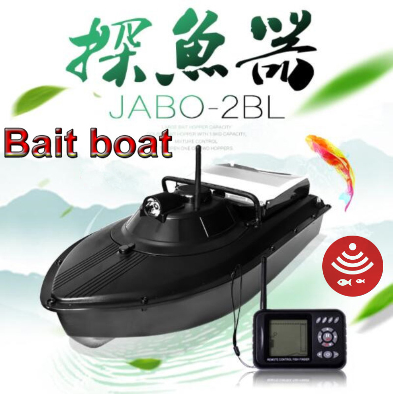 JABO 2BL 10A 2.4G Rc Sonar Fishing Finder Bait boat with water depth detecting free shipping jabo 2bl 20ah 2 4ghz sonar fish finder bait boat for fishing tools with sonar fish finder