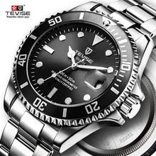 Горячие 2019 новые Tevise Мужские кварцевые часы Автоматическая Дата Спорт Роскошные модные часы Известный Дизайн мужские часы Relogio Masculino