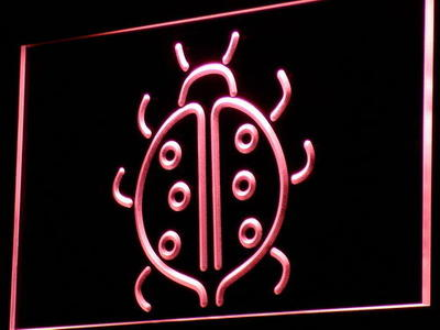 i851 Lady Bug Display Home Decor Gift Decor Neon Light Sign On/Off Swtich 20+ Colors 5 Sizes