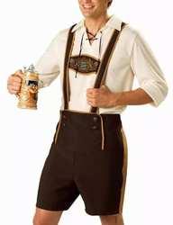 Для Мужчин's Октоберфест комплекты Костюмы Топы штаны с подтяжками Винтаж Стиль Октоберфест сервисный костюмы для мальчиков SAN0