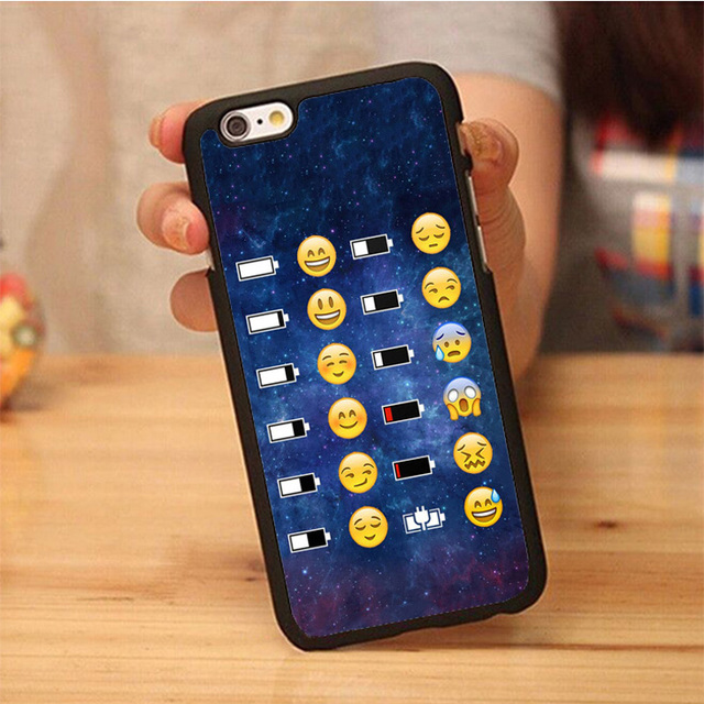 the latest 0b724 f1881 US $3.88 |Emoji Face Space funky smiley Printed Mobile Phone Cases For  iPhone 6 6S Plus 7 7 Plus 5 5S 5C SE 4S Soft Rubber Back Cover-in Fitted  Cases ...