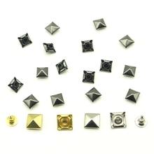 Сплавные заклепки 50 компл./упак. 8/9/10 мм квадратные пирамидальные заклепки/сумки/Обувь/Одежда для детей, в стиле «панк» «сделай сам» с заклепками штифты, конусы для одежды H-10