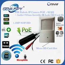 960P 1.3MP POE Wifi Wireless Night Vision PIR Mini IP Camera Security Pinhole Network IP Indoor Surveillance CCTV Mini IP Kamera