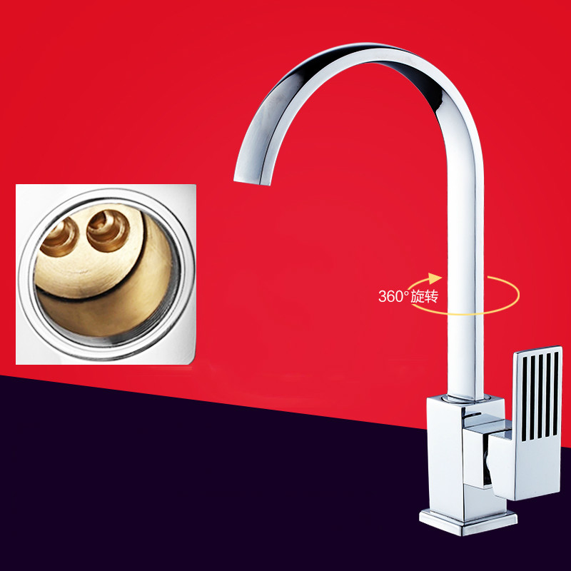 ФОТО 2016 New Chrome Polished Torneira Cozinha Grifos Cocina Hot And Cold Water Faucet Kitchen Sink Basin Dual-purpose Copper Valve